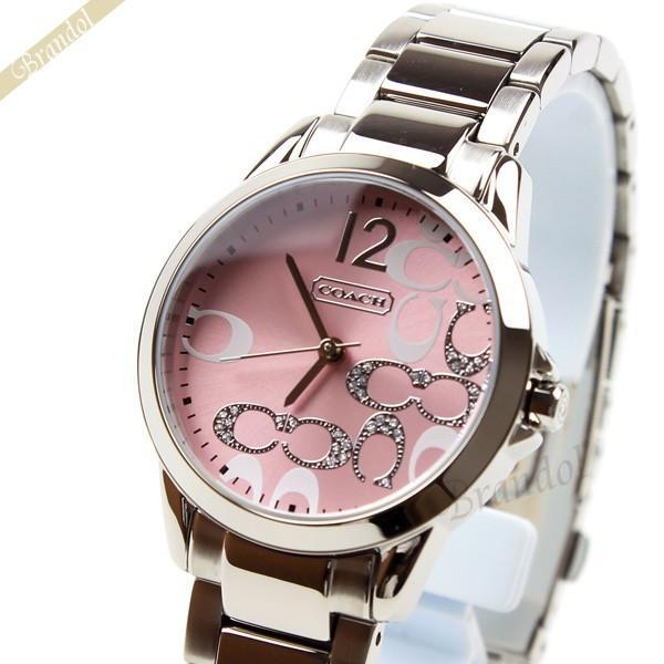 5c940d7e743b コーチ COACH レディース腕時計 クラシック シグネチャー ブレスレット 32mm ピンク×シルバー 14501617 [在庫品]