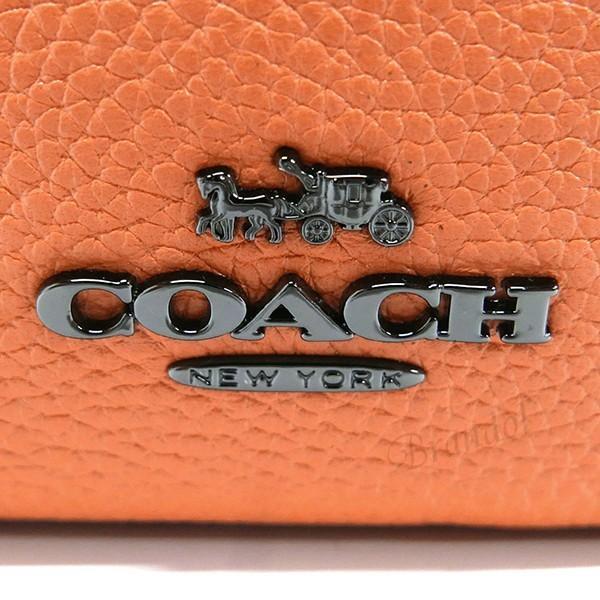コーチ COACH レディース ショルダーバッグ レザー リベット ポシェット オレンジ系 F29333 DKDJM 【コーチアウトレット】 [在庫品]