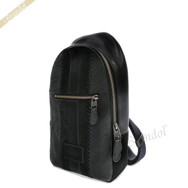 コーチ COACH メンズ ボディバッグ レザー ブラック F55493 QB/BK 【コーチアウトレット】 [在庫品]|brandol
