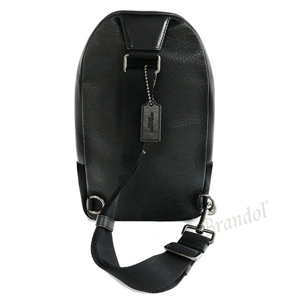 コーチ COACH メンズ ボディバッグ レザー ブラック F55493 QB/BK 【コーチアウトレット】 [在庫品]|brandol|02