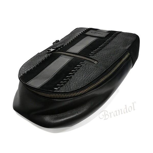 コーチ COACH メンズ ボディバッグ レザー ブラック F55493 QB/BK 【コーチアウトレット】 [在庫品]|brandol|03