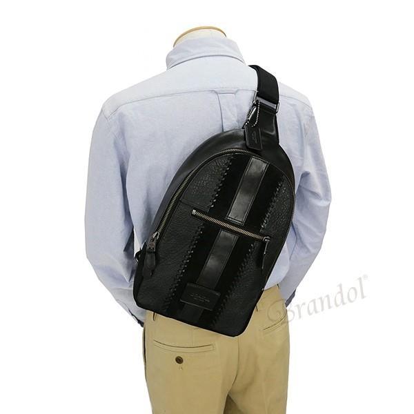 コーチ COACH メンズ ボディバッグ レザー ブラック F55493 QB/BK 【コーチアウトレット】 [在庫品]|brandol|06