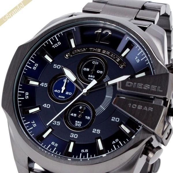 ディーゼル DIESEL メンズ腕時計 メガチーフ クロノグラフ Mega Chief 52mm ネイビー×ブラック DZ4329 [在庫品] brandol