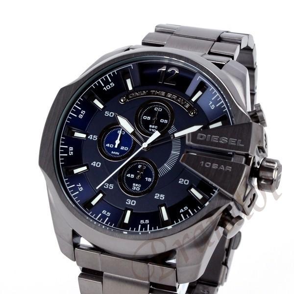 ディーゼル DIESEL メンズ腕時計 メガチーフ クロノグラフ Mega Chief 52mm ネイビー×ブラック DZ4329 [在庫品] brandol 02