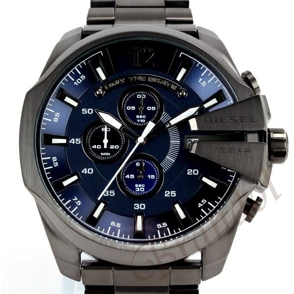 ディーゼル DIESEL メンズ腕時計 メガチーフ クロノグラフ Mega Chief 52mm ネイビー×ブラック DZ4329 [在庫品] brandol 03