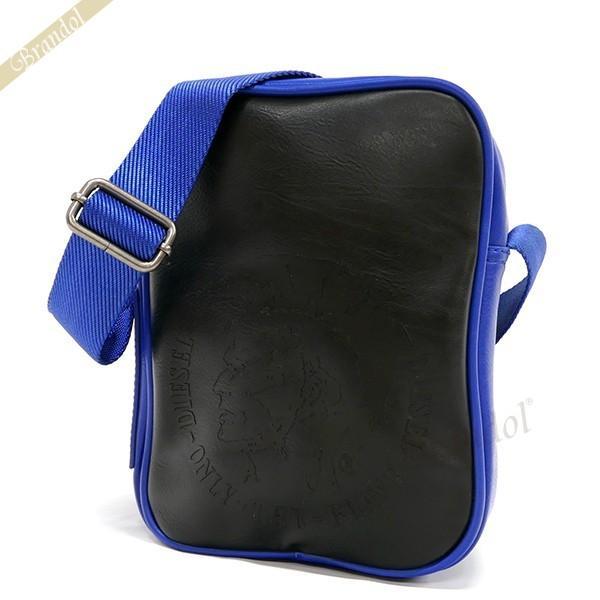 ディーゼル DIESEL メンズ ショルダーバッグ BRAVE ブレイブマン メッセンジャー ブラック×ブルー X00877 PS386 H4144 [在庫品]|brandol