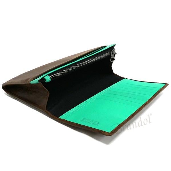 ディーゼル DIESEL メンズ 長財布 レザー ブラウン×ミントグリーン X03359 P1075 H6183 [在庫品]|brandol|05
