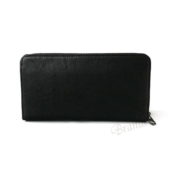 ディーゼル DIESEL メンズ ラウンドファスナー長財布 レザー ブラック×グレー X03609 P1221 H6168 [在庫品] brandol 02