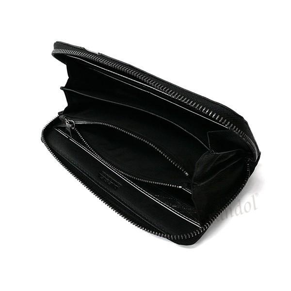 ディーゼル DIESEL メンズ ラウンドファスナー長財布 レザー ブラック×グレー X03609 P1221 H6168 [在庫品] brandol 04