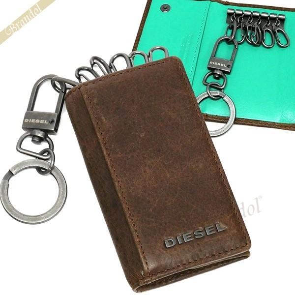 ディーゼル DIESEL メンズ キーケース レザー ブラウン×ミントグリーン X03615 P1075 H6183 [在庫品]|brandol