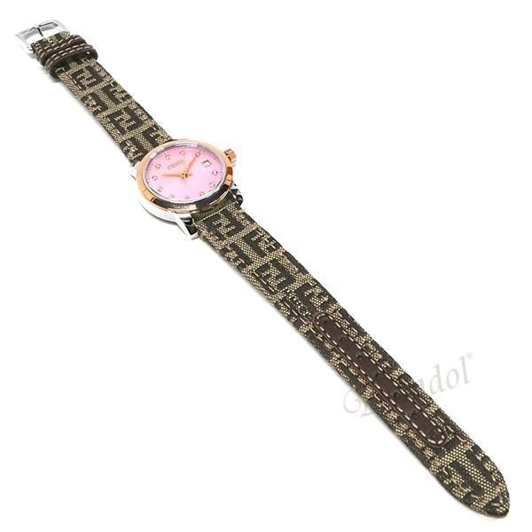 フェンディ FENDI レディース腕時計 ラウンド クラシコ 26mm ピンクパール×ベージュ F218272DF [在庫品]|brandol|05