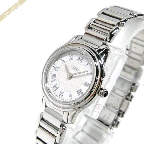 フェンディ FENDI レディース腕時計 ラウンド クラシコ 26mm ホワイト×シルバー F251024000 [在庫品]|brandol