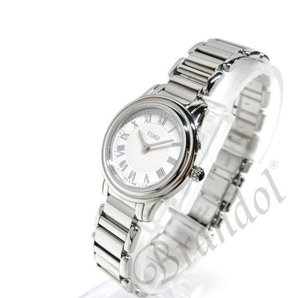フェンディ FENDI レディース腕時計 ラウンド クラシコ 26mm ホワイト×シルバー F251024000 [在庫品]|brandol|02