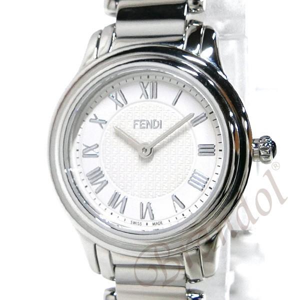 フェンディ FENDI レディース腕時計 ラウンド クラシコ 26mm ホワイト×シルバー F251024000 [在庫品]|brandol|03
