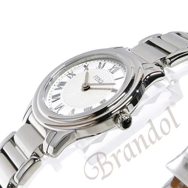 フェンディ FENDI レディース腕時計 ラウンド クラシコ 26mm ホワイト×シルバー F251024000 [在庫品]|brandol|04