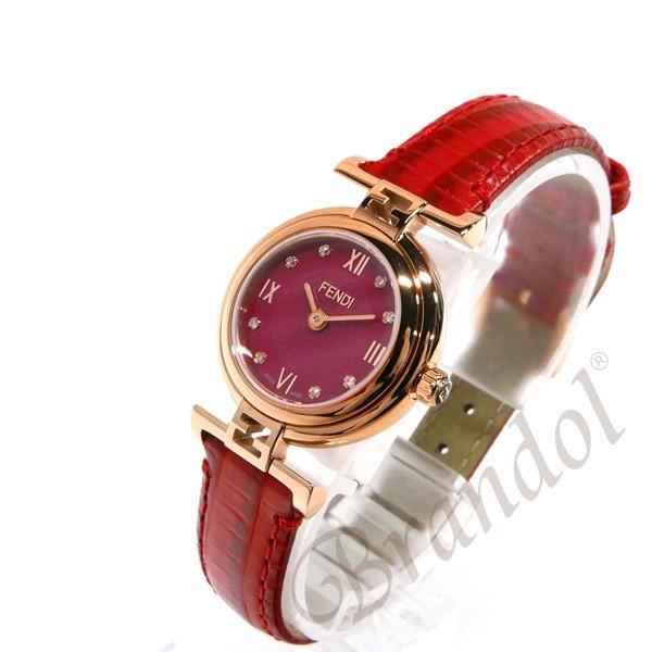 フェンディ FENDI レディース腕時計 MODA ダイヤモンド 23mm レッド F275277BD [在庫品]|brandol|02