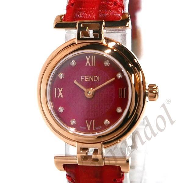 フェンディ FENDI レディース腕時計 MODA ダイヤモンド 23mm レッド F275277BD [在庫品]|brandol|03