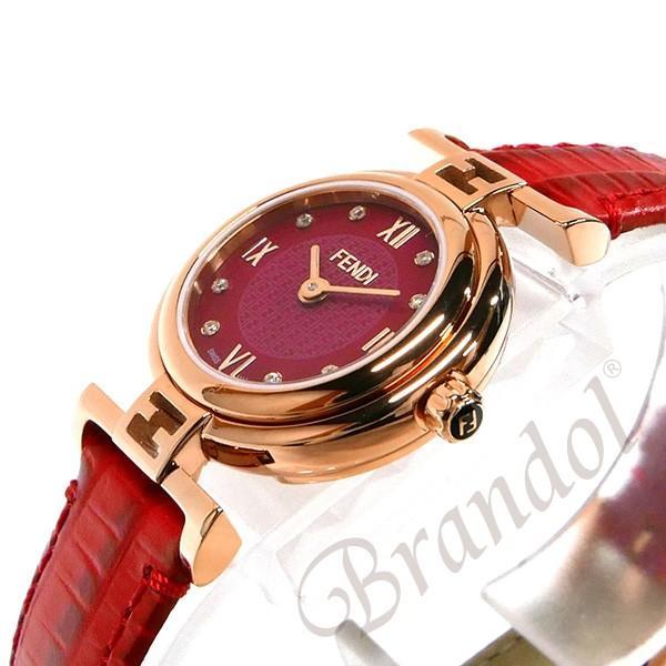 フェンディ FENDI レディース腕時計 MODA ダイヤモンド 23mm レッド F275277BD [在庫品]|brandol|04