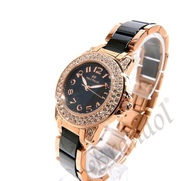フォリフォリ Folli Follie レディース腕時計 30mm ブラック×ゴールド WF9B020BPK|brandol|02