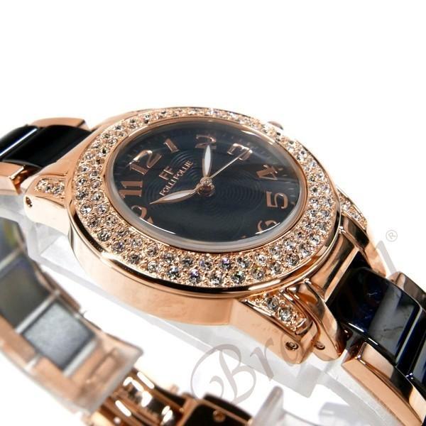 フォリフォリ Folli Follie レディース腕時計 30mm ブラック×ゴールド WF9B020BPK|brandol|04