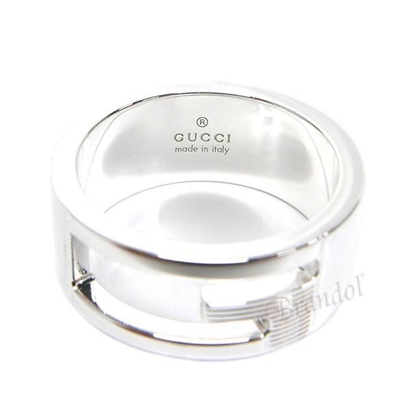 グッチ GUCCI 指輪 メンズ・レディース リング ブランデッド Gリング シルバー 032660 09840 8106 [在庫品]|brandol|03
