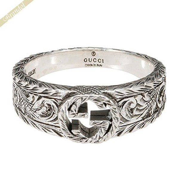 46085d845231 グッチ GUCCI 指輪 メンズ・レディース 指輪 インターロッキングG シルバーリング シルバー 455249 J8400 0701 [在庫品]