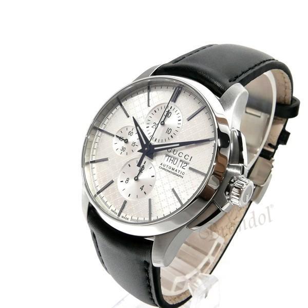 グッチ GUCCI メンズ腕時計 Gタイムレス G-Timeless クロノグラフ 44mm シルバー×ブラック YA126265 [在庫品]|brandol|02
