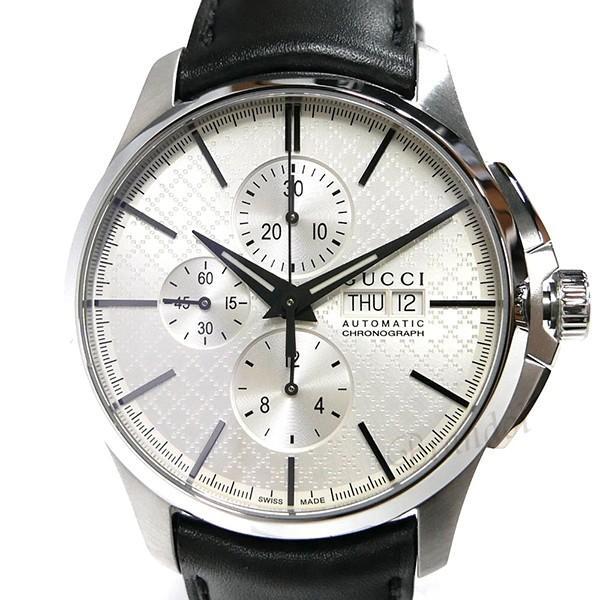 グッチ GUCCI メンズ腕時計 Gタイムレス G-Timeless クロノグラフ 44mm シルバー×ブラック YA126265 [在庫品]|brandol|03