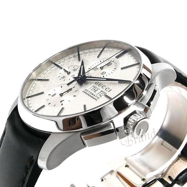 グッチ GUCCI メンズ腕時計 Gタイムレス G-Timeless クロノグラフ 44mm シルバー×ブラック YA126265 [在庫品]|brandol|04