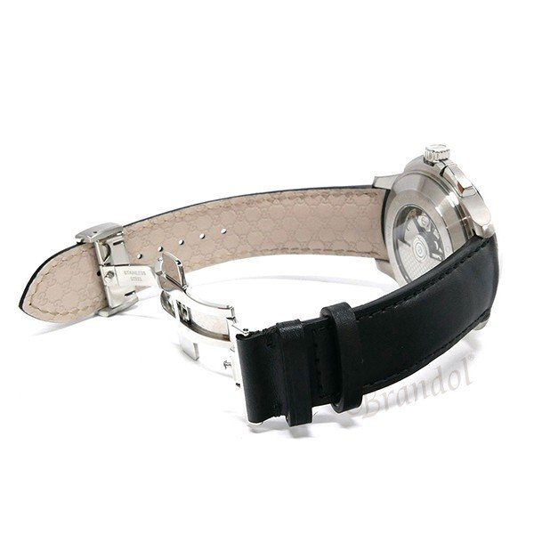 グッチ GUCCI メンズ腕時計 Gタイムレス G-Timeless クロノグラフ 44mm シルバー×ブラック YA126265 [在庫品]|brandol|05