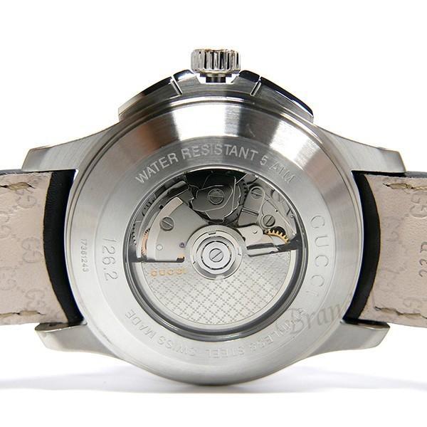 グッチ GUCCI メンズ腕時計 Gタイムレス G-Timeless クロノグラフ 44mm シルバー×ブラック YA126265 [在庫品]|brandol|06