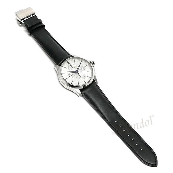 グッチ GUCCI メンズ腕時計 Gタイムレス G-Timeless クロノグラフ 44mm シルバー×ブラック YA126265 [在庫品]|brandol|07