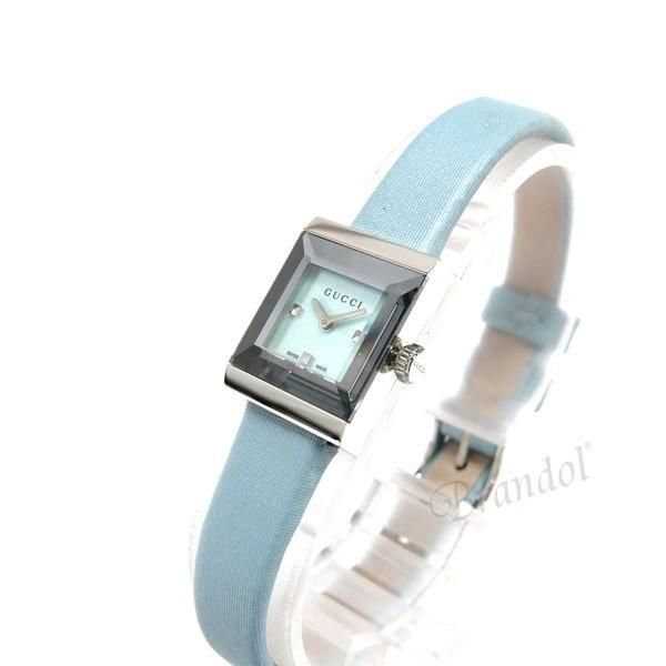 グッチ GUCCI レディース腕時計 Gフレーム G-Frame スクエア ライトブルー YA128531 [在庫品]