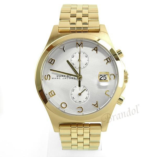 マークバイマークジェイコブス MARC BY MARC JACOBS レディース腕時計 Slim スリム クロノグラフ 38mm シルバー×ゴールド MBM3379 [在庫品]|brandol|03