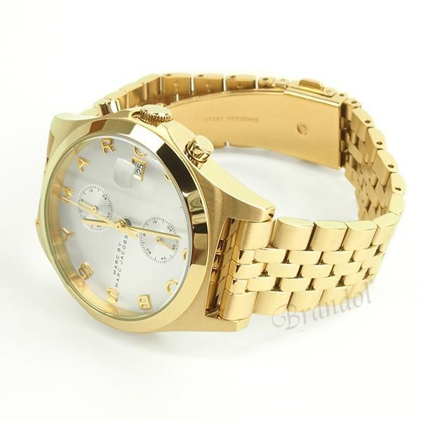 マークバイマークジェイコブス MARC BY MARC JACOBS レディース腕時計 Slim スリム クロノグラフ 38mm シルバー×ゴールド MBM3379 [在庫品]|brandol|06