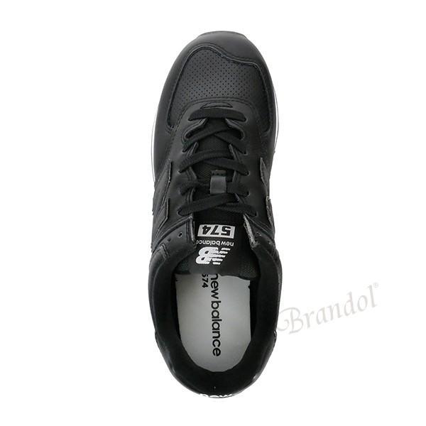 ニューバランス new balance メンズ スニーカー 574 ブラック×ホワイト ML574SNR 048 BLACK/WHITE [在庫品]|brandol|04