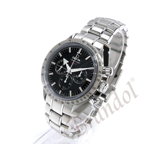 オメガ OMEGA メンズ腕時計 スピードマスター ブロード アロー1957 クロノグラフ 自動巻き 42mm ブラック×シルバー 321.10.42.50.01.001 [在庫品] brandol 02