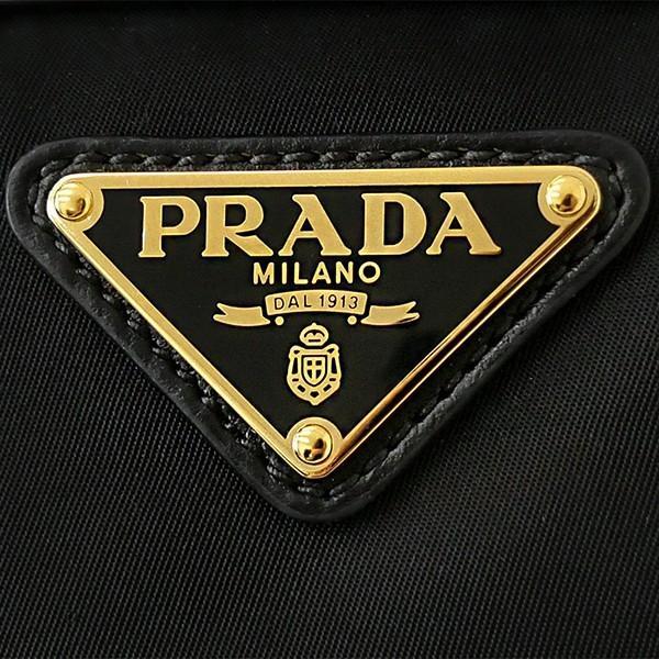 プラダ PRADA レディース ショルダーバッグ 2way ナイロン ミニトートバッグ ブラック 1BA111 V QXO F0002 [在庫品]