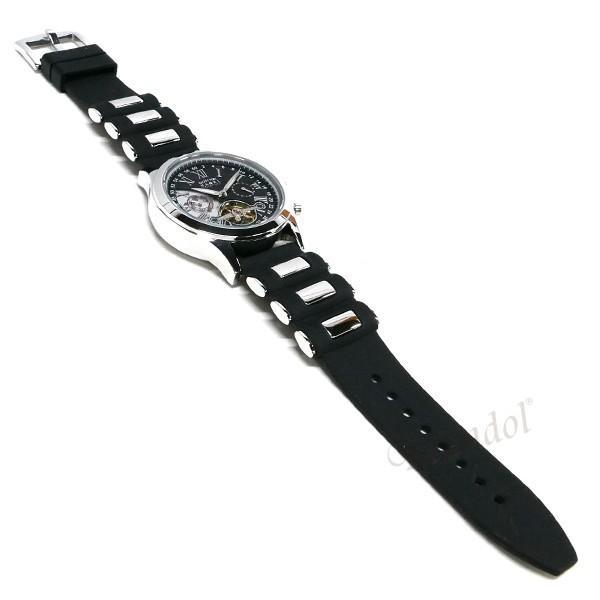 ゾンネ ハオリ SONNE×HAORI メンズ 腕時計 岩城滉一 コラボ 44mm 自動巻き ブラック×シルバー H016SS BK [在庫品]|brandol|06