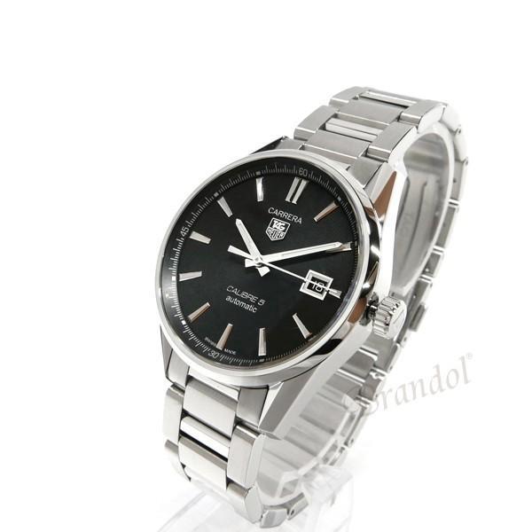 タグホイヤー TAG Heuer メンズ腕時計 カレラ キャリバー5 39mm 自動巻き ブラック×シルバー WAR211A.BA0782 [在庫品]|brandol|02
