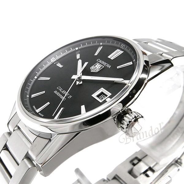 タグホイヤー TAG Heuer メンズ腕時計 カレラ キャリバー5 39mm 自動巻き ブラック×シルバー WAR211A.BA0782 [在庫品]|brandol|04