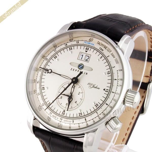 ツェッペリン ZEPPELIN メンズ腕時計 100周年記念モデル 42mm ライトゴールド×ブラウン 7640-1-N|brandol
