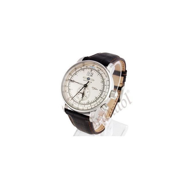 ツェッペリン ZEPPELIN メンズ腕時計 100周年記念モデル 42mm ライトゴールド×ブラウン 7640-1-N|brandol|02