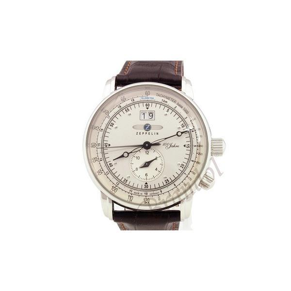 ツェッペリン ZEPPELIN メンズ腕時計 100周年記念モデル 42mm ライトゴールド×ブラウン 7640-1-N|brandol|03