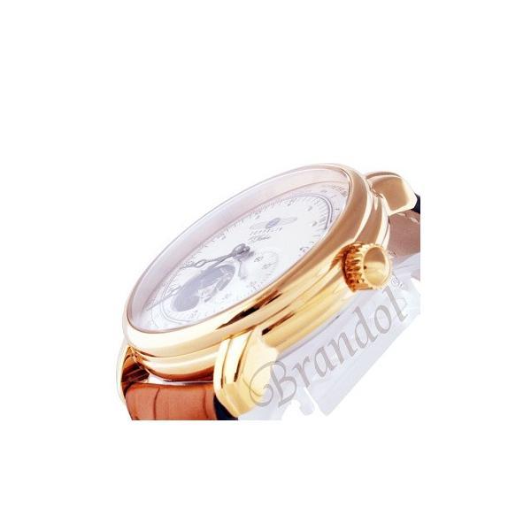 ツェッペリン ZEPPELIN メンズ腕時計 100周年記念モデル オートマチック 40mm 自動巻き シルバー×ライトブラウン 7662-5|brandol|04