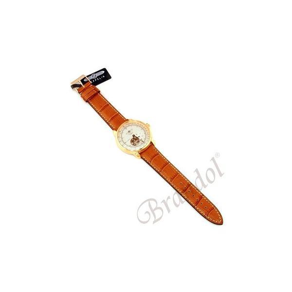 ツェッペリン ZEPPELIN メンズ腕時計 100周年記念モデル オートマチック 40mm 自動巻き シルバー×ライトブラウン 7662-5|brandol|05