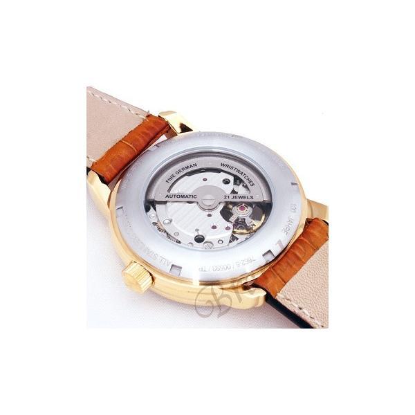 ツェッペリン ZEPPELIN メンズ腕時計 100周年記念モデル オートマチック 40mm 自動巻き シルバー×ライトブラウン 7662-5|brandol|06