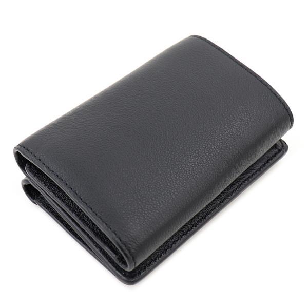 バレンシアガ 財布 三つ折り財布 BALENCIAGA 391446 DLQ0N 1000 レター ブラック 黒 コンパクトウォレット ミニ財布 本革全ての