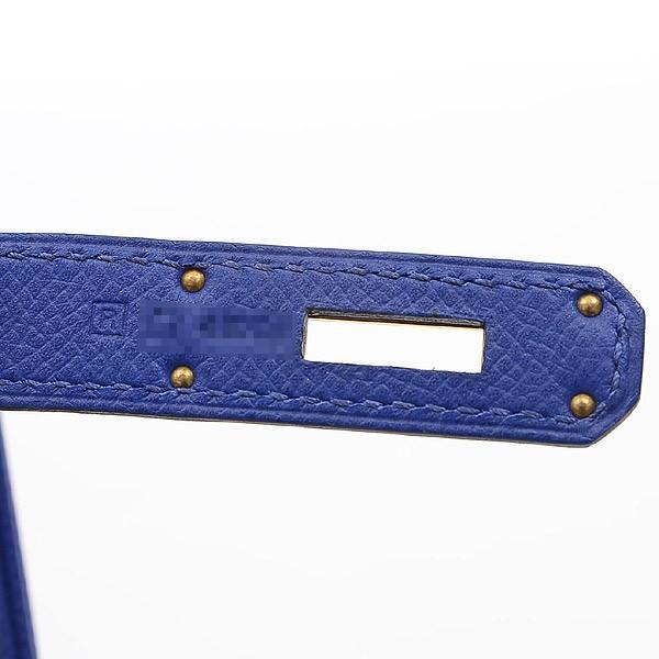 エルメス バーキン30 エプソン ブルーエレクトリック ゴールド金具 R刻印  ブランドピース