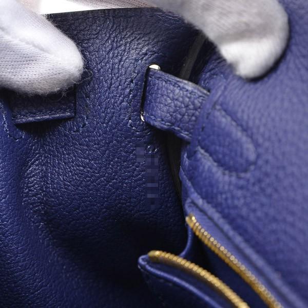 エルメス ケリー25 内縫い トゴ ブルーアンクル ゴールド金具 C刻印  ブランドピース